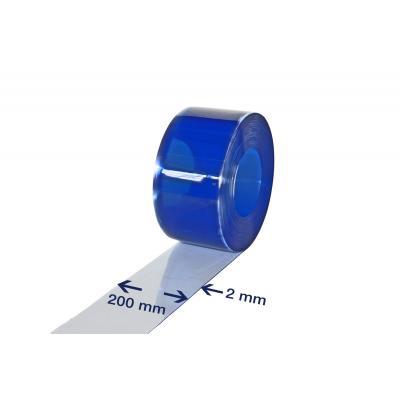 PVC-Streifen Rollenware, 2 x 200 mm, 50 m, transparent