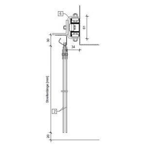 Schiebevorrichtung für PVC-Streifenvorhang, Vorhangbreite 1 m bis 2 m