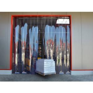 PVC-Streifenvorhang, Lamellen 200 x 2 mm transparent, Höhe 2,00 m, Breite 2,85 m (2,00 m), Edelstahl