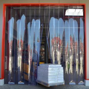 PVC-Streifenvorhang, Lamellen 300 x 3 mm transparent, Höhe 2,00 m, Breite 0,30 m, verzinkt