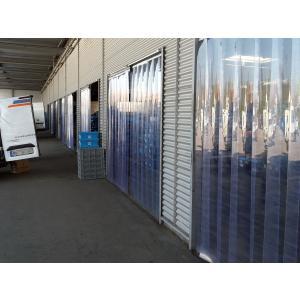 PVC-Streifenvorhang, Lamellen 200 x 2 mm transparent, Höhe 2,00 m, Breite 0,90 m (0,70 m), verzinkt